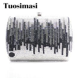 $enCountryForm.capitalKeyWord Canada - Gift Box Packed Women Crystal Evening Metal Clutches Small Minaudiere Handbag Wedding Clutch