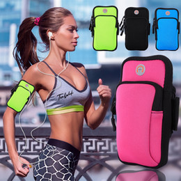 Gym Arm Cell Phone Holder Canada - Exercise Arm Bag Sport Armband Running Jogging Gym Arm Band Pouch Holder Bag Case For Cell Phone