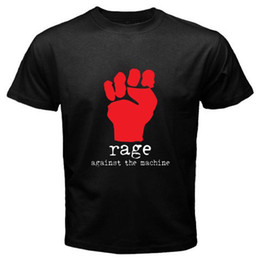 $enCountryForm.capitalKeyWord Australia - New RAGE AGAINST THE MACHINE *Fist Logo Rock Band Men's Black T-Shirt S to 3XL 2018 Short Sleeve, O-Neck 100% Cotton, Print Mens Summer,