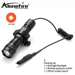 $enCountryForm.capitalKeyWord NZ - AloneFire 501Bs CREE Tactical Flashlight red light Torch lighting Shot with Remote Pressure Switch bike Mount