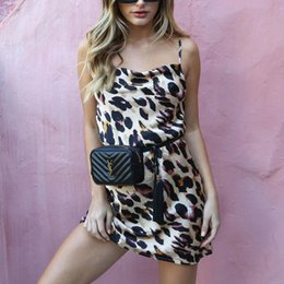 $enCountryForm.capitalKeyWord NZ - Women Leopard Print Mini Dress Ladies Sexy Evening Party Clubwear Dress Sleeveless Summer Sexy Dress Vestisdo