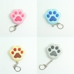 Coloured key Chain online shopping - Cat Paw Key Buckle LED Chain Flashlight Pendant Gift Children Kid Toy Mix Colour Phonation Luminescence Lovely Hot Sale ly V