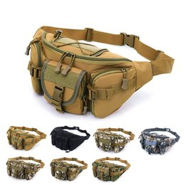 Wholesale 7styles Multi Purpose Camo waist Bag Poly Tool Holder Pouch Nylon Utility Tactical Waist Pack Camping Hiking Bag outdoor sport bag FFA1272