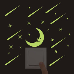 $enCountryForm.capitalKeyWord Australia - 3D wall stickers for kids rooms moon meteor shower Sticker glow in the dark stars wall sticker bedroom home decor living rooms