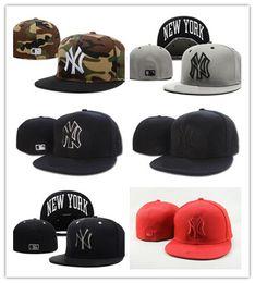 b069c673999 2019 Wholesale Elastic Eagles baseball cap NY fitted men women Summer  fitted hat Full Closed elastic Hats Male Sport Gorras Cap Bone