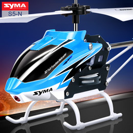 Wholesale Toys Helicopter NZ - SYMA Official S5-N 3CH Mini RC Helicopter Built in Gyroscope Indoor Toy for Kids