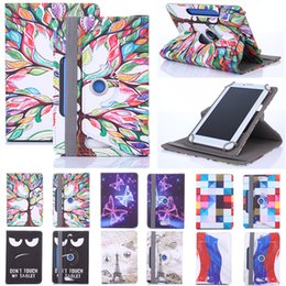 Discount 7 inch tablet case - Histers Printed Universal Cover for 7 inch Tablet Asus MeMo Pad HD 7 ME173 ME173X 360 Degree Rotating PU Leather Stand C