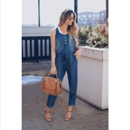 1a39e1a311c Women Casual Loose Denim Jeans Pants Overalls Straps Jumpsuit Romper  Trousers US