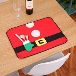 $enCountryForm.capitalKeyWord Australia - Wholesale Red Christmas Table Placemats Mat Table cloth felt celebrations Xmas Party Dinner Decor rustic style