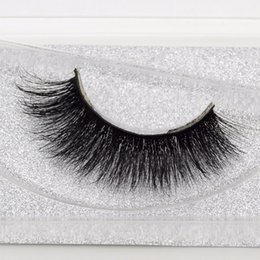 Wholesale 3D Mink Lashes Hand Made Fake Eyelashes Thick Messy False Lashes Mink Hair Extension for Makeup Glitter Packing Box Pair A08