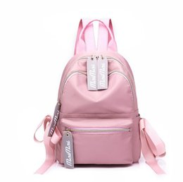 Nylon Travel Backpack Canada - Large Capacity Backpack Women Preppy School Bags For Teenagers Female Nylon Travel Bags Girls Bowknot Backpack