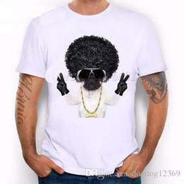 Afro Hair Men Australia - Dog with afro hair Golden Chain Bone Animals Cute Funny Joke Men T Shirt Tee