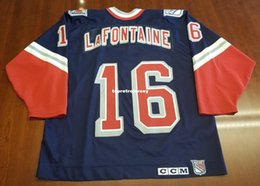 14cedd892 Wholesale Custom Pat LaFontaine Vintage New York Rangers CCM Cheap Hockey  Jersey Lady Liberty Mens Retro Jerseys