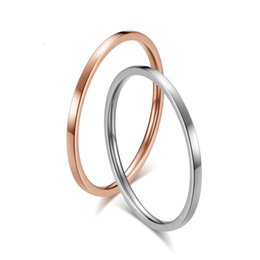 Rose Gold Cluster Engagement Rings Australia - New Simple fashion stainless steel Ring Rose Gold Color Rings For Women Wedding Geometric ring Jewelry gift ZK30
