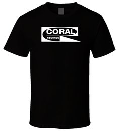 records shirt NZ - Coral Records 6 New Hot Sale Black Men T Shirt Cotton Size S - 3xl 100% Cotton T Shirts Brand Clothing Tops Tees