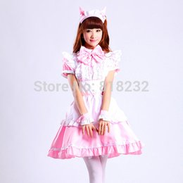 Cosplay Maid Outfits NZ - Lolita Cat Ear Maid Apron Dress Meidofuku Uniform Outfits Costumes M-XL anime cosplay costumes