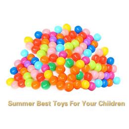 $enCountryForm.capitalKeyWord Australia - 100 Pcs Colorful Ball Ocean Balls Summer Soft Plastic Ocean Ball Baby Kid Swim Toy for Children Gift Swim Pits Toy 5.5CM With Storage Bag