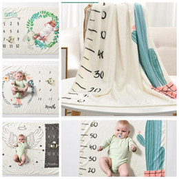 BaBy swaddle Blanket online shopping - 70 cm Baby Milestone Blanket Photography Background Prop For Newborn Swaddle Girl Boys Blanket Super Soft Toddler wraps KKA5200