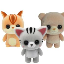 $enCountryForm.capitalKeyWord Canada - Plastic flocking doll Cute birthday gift girl brown coffee color Meng bear Cat squirrel trinkets creative toys DHL free shipping