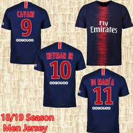 14256c910 18 19 MBAPPE soccer jerseys 2018 2019 DANI ALVES CAVANI Shirts DI MARIA  maillot de foot VERRATTI MATUIDI Camiseta de futbol
