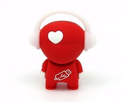 Wholesale Red love heart music boy usb flash drive disk memory stick pendrive Pen drive personalized mini computer gift g gb gb