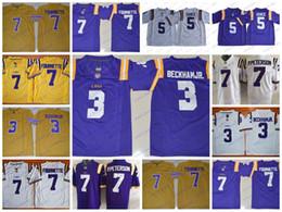 02a4411a7 NCAA LSU Tigers College Football 3 Odell Beckham Jr. 5 Derrius Guice 7  Leonard Fournette Patrick Peterson Tyrann Mathieu Jerseys Stitched