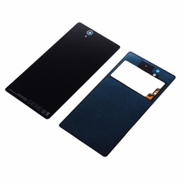 L36h Housing Australia - With NFC New Glass Back Battery Cover For Sony Xperia Z L36H L36 C6603 C6602 Replacement Rear Door Housing