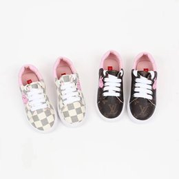 Wholesale Autumn Girl Exceed Fine Niños Zapatos casuales Lovely Cartoon Printing Lattice Single Shoe Flat Bottom High Quality Kids Shoe