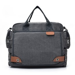 Hot Trunks For Men NZ - Hot Sell Casual Vintage Multifunction Trunk Men's Canvas Travel Crossbody Shoulder Messenger Bag handbag For Men High Qual