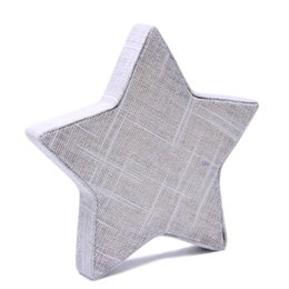 Linen Jewelry Necklace Display Australia - Linen Star Shape Necklace Chain Bracelet Jewelry Display Stand Holder Showcase