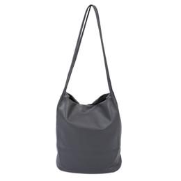 Ladies Cross Handbags NZ - Women Leather Handbags Bucket Shoulder Bags Ladies Cross Body Bags Large Capacity Ladies Shopping Bag Gray