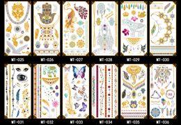Wholesale New Styles Temporary Tattoos gold blocking Jewelry Tattoo Sticker party sticker Body Art tattoo cm