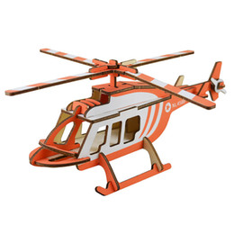 Chinese  DIY 3D Wooden Puzzle Model Toy Helicopter Model Jigsaw Puzzle Educational Toys Best Model Toy Gifts for Kids & Adults manufacturers