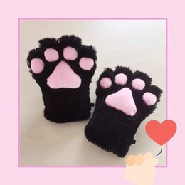 Paw Glove Cosplay NZ - 2018 Women Cartoon Lady Plush Cat Paws Gloves Maid Anime Dress Up Props Cosplay Accessories Party Supplies
