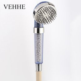 $enCountryForm.capitalKeyWord NZ - VEHHE 3 Modes Blue Bathroom Comb Design Handheld Shower Head Massage Rainfall SPA Water Saving Showerheads VE213