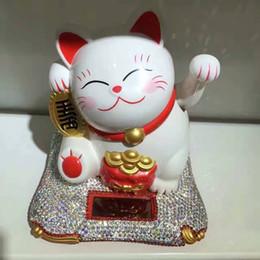 Discount neko doll - The Maneki Neko Car Dashboard Ornament Interior Decoration Ceramic Lucky Fortune Cat God of wealth Ornament for Home Off