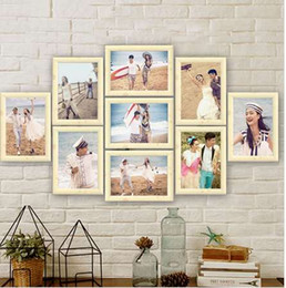 collage photos frames Canada - 9Pcs Lot Photo Frame Set Picture Frame Family Collage Photo Frames Wall Hanging Photo Picture Holder Display Home Wall Decor 7 inch
