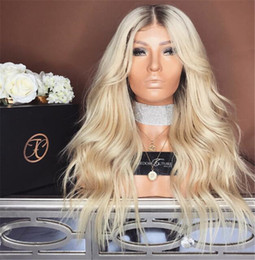 Full Lace Ombre Wigs Human Hair Australia - 1b 613 Glueless Full Lace Wigs Remy Human Hair with Baby Hair Ombre 1B 613 Dark Roots Blonde for Black Women