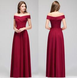 d8ed93a31a55 Off shOulder spandex dress online shopping - 2019 Burgundy Spandex Long  Bridesmaid Dresses Off The Shoulder