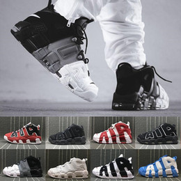 1816ae0c0fe More Uptempo Red Black Gold Mens Basketball Shoes For 3M Fashion Casual Sneaker  Scottie Pippen Sports Sneakers US 8-13