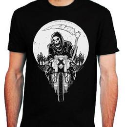 Goth Metal Australia - Grim Racer T-Shirt mens S-2XL Biker metal rock goth reaper motorcycle death