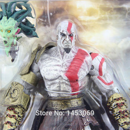 "toys kratos Canada - Eco-Friendly God of War 1pcs 7 .5 ""Neca God of War Kratos In Golden Fleece Armor with Medusa Head Pvc Action Figure Collection Toy"