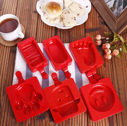 popsicle cartoon 2019 - Cartoon DIY Silicone Ice Cream Mold 9 Style Popsicle Molds Popsicle Maker Frozen Ice Mould with Popsicle Sticks Kitchen