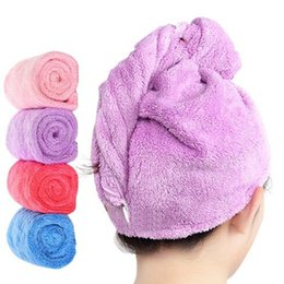 $enCountryForm.capitalKeyWord NZ - Women Bathroom Super Absorbent Quick-drying Microfiber Bath Towel Hair Dry Cap Salon Towel 25x65cm