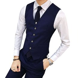 546f9f1a4d8 Mens blazers business casual online shopping - Hot Sale New Arrival Mens  Casual Vest Slim V