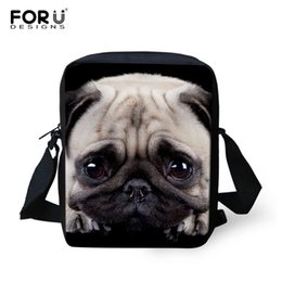 Jurassic Pug Funny Pug Travel School Bag College Shoulder Messenger Bag