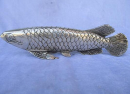$enCountryForm.capitalKeyWord UK - WBY Tibetan silver Fish statue Lucky Fish Sculpture ,Long 10 inch
