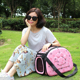 Bags Carry Puppies Australia - Cute Shoulder Foldable Pet Dog Carrier Puppy Carrying Outdoor Travel Bags for Small Dog Bag Soft Pets Dog Kennel Pet Products