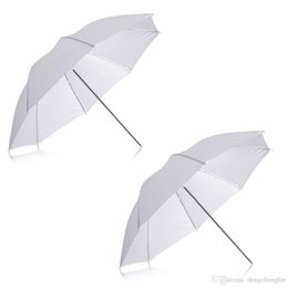 "umbrella packing UK - 2 Pack 33"" 84cm White Translucent Soft Umbrella for Photo and Video Studio Shooting free shipping"