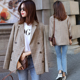 long formal suit jacket for women Canada - 2017 New Plaid Formal Suits for Women Fashion Newest Designer Blazer Women's Long Sleeve coat Women's jacket